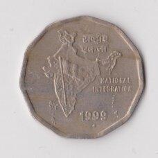 INDIJA 2 RUPEE 1999 KM # 121 VF