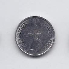 INDIJA 25 PAISE 2001 KM # 54 AU/UNC
