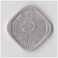 INDIJA 5 PAISE 1968 KM # 18 VF