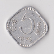 INDIJA 5 PAISE 1978 KM # 18 VF