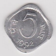 INDIA 5 PAISE 1992 KM # 23a AU