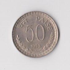 INDIJA 50 PAISE 1973 KM # 61 XF