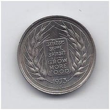 INDIJA 50 PAISE 1973 KM # 62 UNC FAO