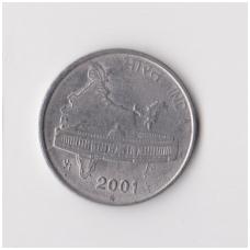 INDIJA 50 PAISE 2001 KM # 69 VF