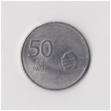 INDIJA 50 PAISE 2008 KM # 374 VF