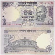 INDIJA 50 RUPEES 2009 P # 97f UNC