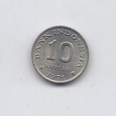 INDONEZIJA 10 RUPIAH 1971 KM # 33 AU