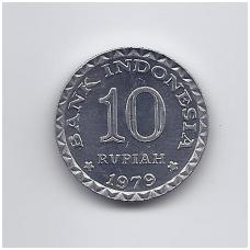 INDONEZIJA 10 RUPIAH 1979 KM # 44 VF FAO