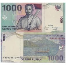 INDONEZIJA 1000 RUPIAH 2009 P # 141i AU