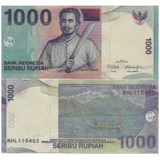 INDONEZIJA 1000 RUPIAH 2013 P # 141 UNC