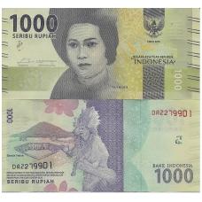 INDONEZIJA 1000 RUPIAH 2016 (2017) P # new UNC