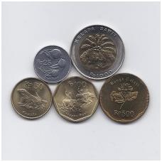INDONEZIJA 1991 - 1996 m. 5 monetų rinkinukas