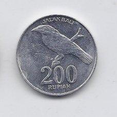 INDONEZIJA 200 RUPIAH 2003 KM # 66 XF