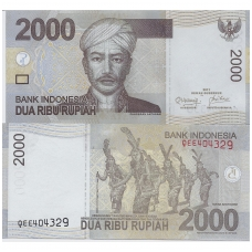 INDONEZIJA 2000 RUPIAH 2011 P # 148 UNC