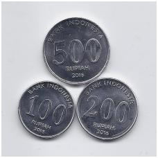 INDONEZIJA 2016 m. 3 monetų rinkinukas