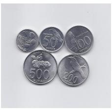 INDONEZIJA 1993 - 2003 m. 5 monetų rinkinukas