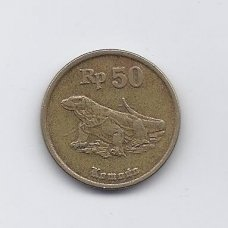 INDONEZIJA 50 RUPIAH 1991 KM # 52 VF