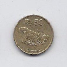 INDONEZIJA 50 RUPIAH 1994 KM # 52 VF