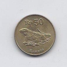 INDONEZIJA 50 RUPIAH 1996 KM # 52 XF