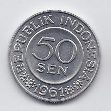 INDONEZIJA 50 SEN 1961 KM # 14 XF/AU