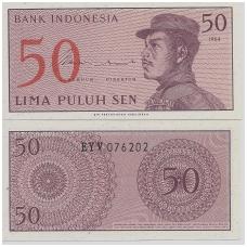 INDONEZIJA 50 SEN 1964 P # 94 UNC
