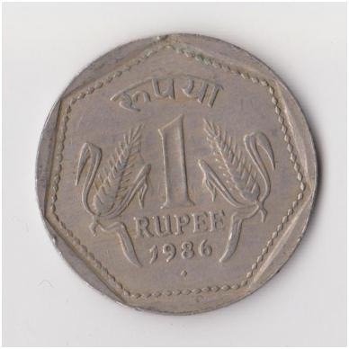 INDIJA 1 RUPEE 1986 KM # 79 VF