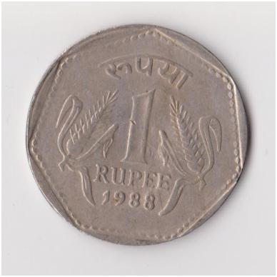 INDIJA 1 RUPEE 1988 KM # 79 VF