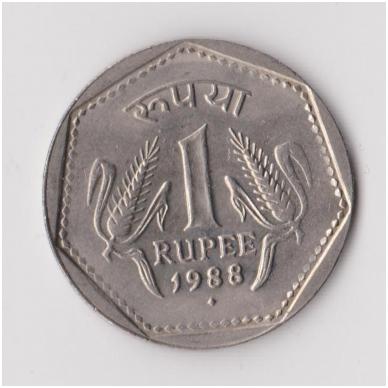 INDIJA 1 RUPEE 1988 KM # 79 XF