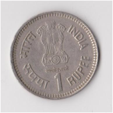 INDIJA 1 RUPEE 1989 KM # 83 VF 2