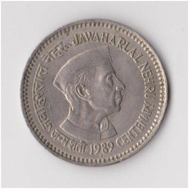 INDIJA 1 RUPEE 1989 KM # 83 XF