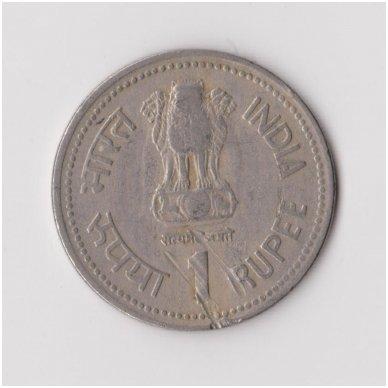 INDIJA 1 RUPEE 1990 KM # 85 VF 2