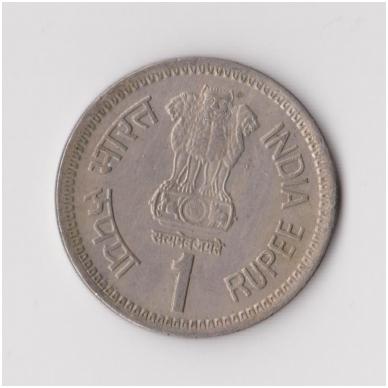 INDIJA 1 RUPEE 1991 KM # 89 VF 2