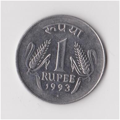 INDIJA 1 RUPEE 1993 KM # 92 VF