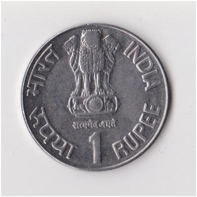 INDIJA 1 RUPEE 1999 KM # 295 VF 2