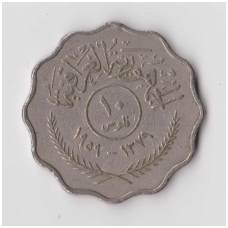 IRAKAS 10 FILS 1959 KM # 121 VF