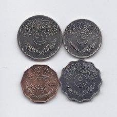 IRAKAS 1959 - 1990 m. 4 monetų rinkinys