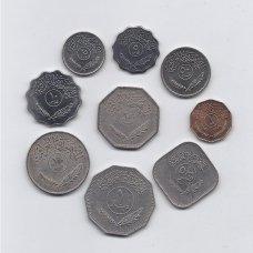 IRAKAS 1959 - 1990 m. 9 monetų rinkinys
