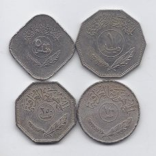 IRAKAS 1975 - 1982 m. 4 monetų rinkinys