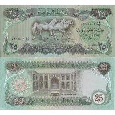 IRAKAS 25 DINARS 1982 P # 72 AU