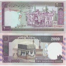 IRANAS 2000 RIALS ND (1986-2005) P # 141j UNC