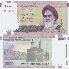 IRANAS 2000 RIALS ND (2005-2013) P # 144d UNC