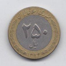 IRANAS 250 RIALS 1995 KM # 1262 VF