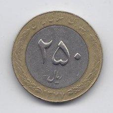 IRANAS 250 RIALS 1998 KM # 1262 VF