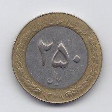 IRANAS 250 RIALS 1999 KM # 1262 VF
