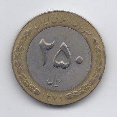 IRANAS 250 RIALS 2000 KM # 1262 VF