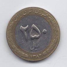 IRANAS 250 RIALS 2003 KM # 1262 VF