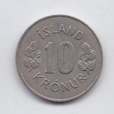 ISLANDIJA 10 KRONUR 1969 KM # 15 VF