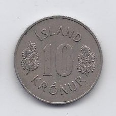 ISLANDIJA 10 KRONUR 1970 KM # 15 VF