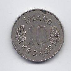 ISLANDIJA 10 KRONUR 1971 KM # 15 VF