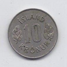 ISLANDIJA 10 KRONUR 1973 KM # 15 VF